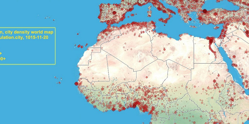 Carte Algerie Population.Algerie Population